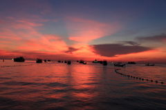 Koh tao. Sunset at koh tao thailand Stock Photography