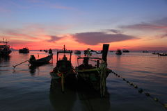 Koh tao. Sunset at koh tao thailand Royalty Free Stock Image