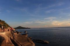 Koh tao. Sunset at koh tao thailand Royalty Free Stock Photography
