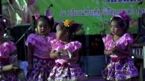 Loy Krathong festival in Koh Tao Thiland little girls dancing