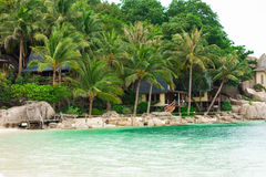 Koh Tao, Thailand. Tropical island resort, Nangyuan island Royalty Free Stock Photography