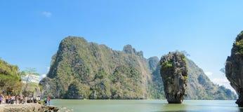 Koh Tapu στον κόλπο Phang Nga, Ταϊλάνδη Στοκ Φωτογραφίες