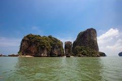 Koh Tapu, James Bond Island, Phangnga le du sud de la Thaïlande Images libres de droits