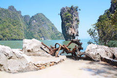 Koh Tapu, Tapu island, Phang Nga Thailand Royalty Free Stock Photo