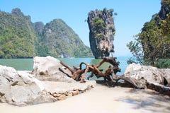 Koh Tapu, Tapu island, Phang Nga Thailand Royalty Free Stock Photo