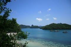 Koh Wua Ta Lub. Is 1 of 42 islands in Mu Koh Angthong, Thailand Royalty Free Stock Photo
