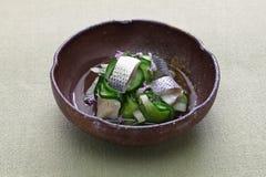 Kohada Sunomono spotted sardine vinegared dish,  japanese cuisine. royalty free stock photography