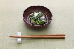 Kohada Sunomono spotted sardine vinegared dish,  japanese cuisine. stock photography