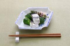 Kohada Sunomono spotted sardine vinegared dish,  japanese cuisine. stock images
