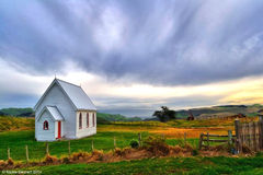 Kohekohe Church. Located in the dreamy little rural town of Waiuku, south of Auckland, New Zealand Stock Images