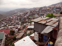 Kohima Town. Aerial view of Kohima Town, From World War Cemetery; Nagaland, Northeast India royalty free stock photo