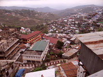 Kohima Town. Aerial view of Kohima Town, From World War Cemetery; Nagaland, Northeast India stock photos