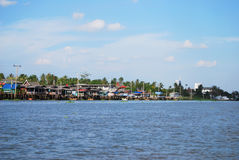 Kohkret. Waterfront lifestyle at kohkred, nonthaburi Royalty Free Stock Photo