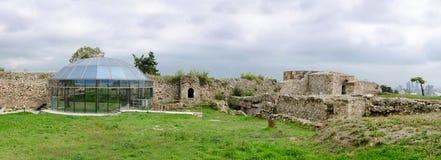 Kohl citadela Festungsruinen in Skopje lizenzfreie stockfotos