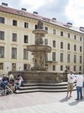 Kohl Fountain at the Castle of Prague Royalty Free Stock Image