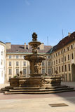 Prague castle fountain Royalty Free Stock Photo