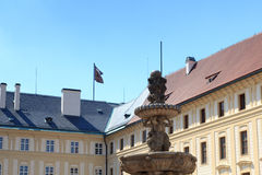 Kohl's fountain in Prague Castle with blue sky Stock Photography