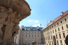 Kohl's fountain in Prague Castle with blue sky Stock Photo