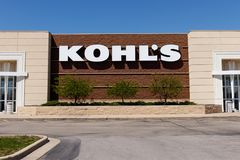 Muncie - Circa April 2018: Kohl`s Retail Store Location. Kohl`s operates over 1,100 Discount Stores II. Kohl`s Retail Store Location. Kohl`s operates over 1,100 Stock Photography