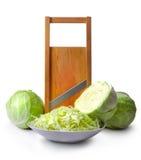 Kohl- und Salatschneidmaschine Lizenzfreies Stockfoto