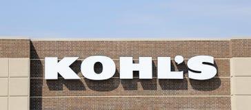 Kohl Wydziałowego sklepu znak Fotografia Royalty Free