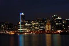 Kohle-Hafen nachts Stockbild