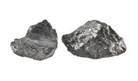 Kohle lokalisiert auf Weiß stockbild