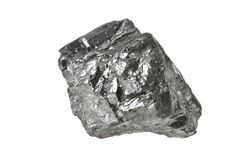 Kohle lokalisiert auf Weiß stockfoto
