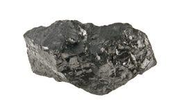 Kohle lokalisiert auf Weiß stockfotografie