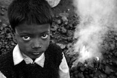 Kohlen-Feuer Stockfotografie