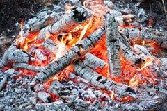 Kohlen im Feuer stockfotos