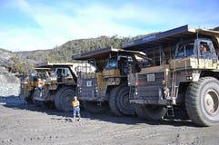 Kohlen-LKW-Aufstellung Stockfoto