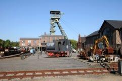 Kohlenbergwerk Zollern - industrieller Weg Dortmund Lizenzfreies Stockfoto