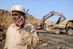 Kohlenbergwerke in Indien Lizenzfreie Stockbilder