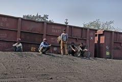 Kohlenbergwerke in Indien Stockfotografie