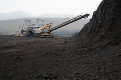 Kohlengrube der geöffneten Grube Lizenzfreies Stockbild