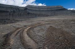 Kohlengrube der geöffneten Grube stockbild