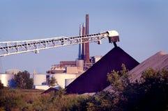 Kohlenhalde, Detroit Stockbild