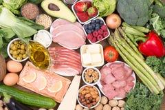 Kohlenhydratarme Diät oder ketogenic Diät Lizenzfreie Stockfotos