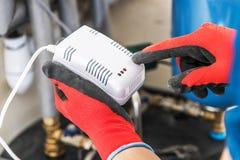 Kohlenmonoxid-Detektor lizenzfreies stockbild