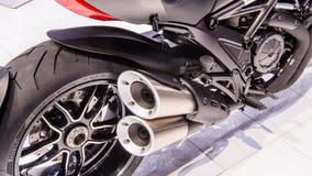 Kohlenstoff Ducati Diavel Lizenzfreie Stockfotos
