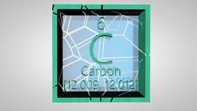 kohlenstoff Element des Periodensystems des Mendeleev-Systems lizenzfreie abbildung