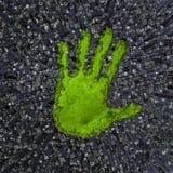 Kohlenstoff handprint Stockbilder