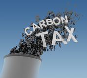 Kohlenstoff-Steuer stock abbildung
