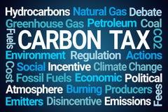 Kohlenstoff-Steuer-Wort-Wolke stock abbildung