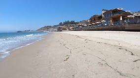 Kohlenstoff-Strand Malibu stock video