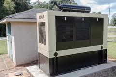 Kohler Commercial Stationary Generator stock photography