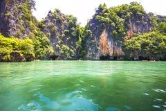 KohLi-pe ö, paradisö i Thailand Arkivfoto