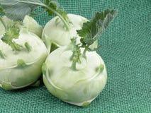 Kohlrabi. Organic kohlrabi from the farmers market close-ups Stock Images