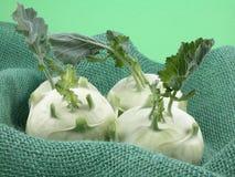 Kohlrabi. Organic kohlrabi from the farmers market close-ups Royalty Free Stock Photos